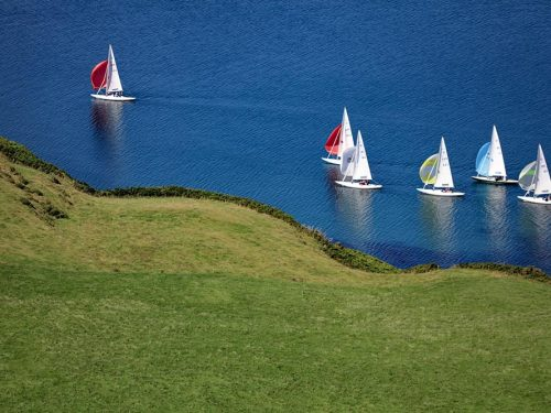 Yachts off Castletownsend West Cork